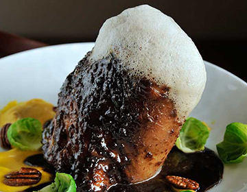 Braised Pork Shank with Brussels Sprouts, Spiced Pecans and Root Beer ...