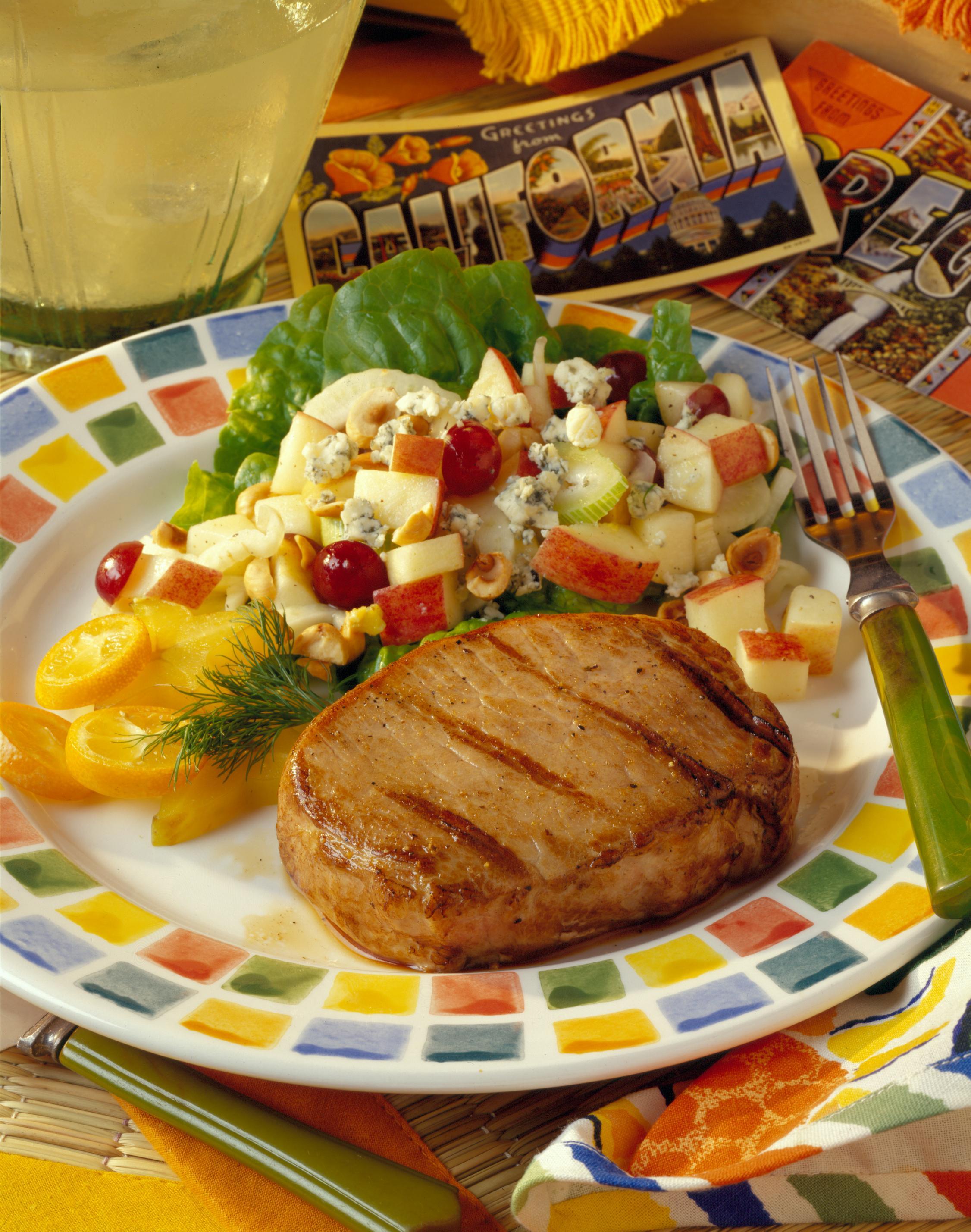 Garlic and Orange Marinated Grilled Pork ChopsPork Recipes