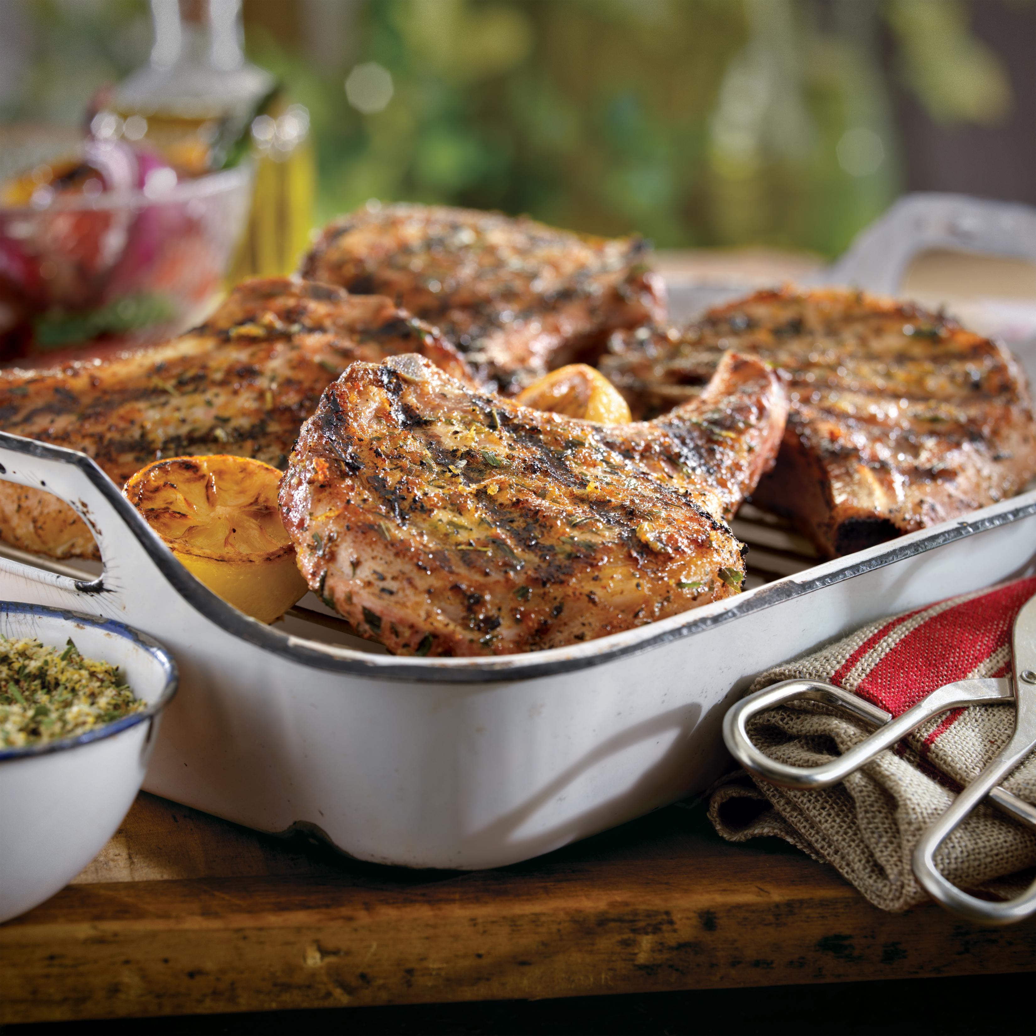 lemon tarragon pork chops pork recipes pork be inspired