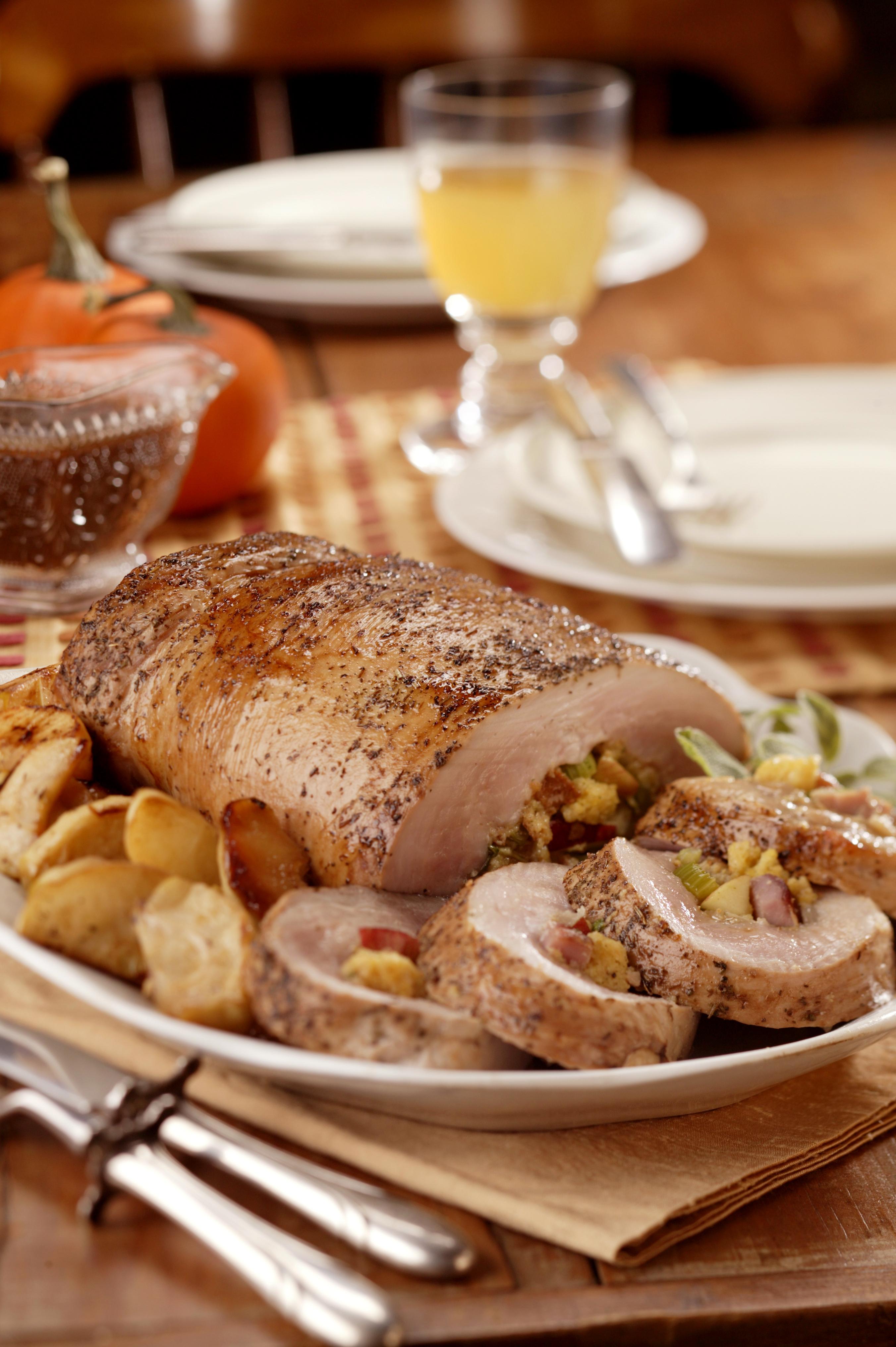 Pork Loin With Apple-Cornbread Stuffing Recipes — Dishmaps