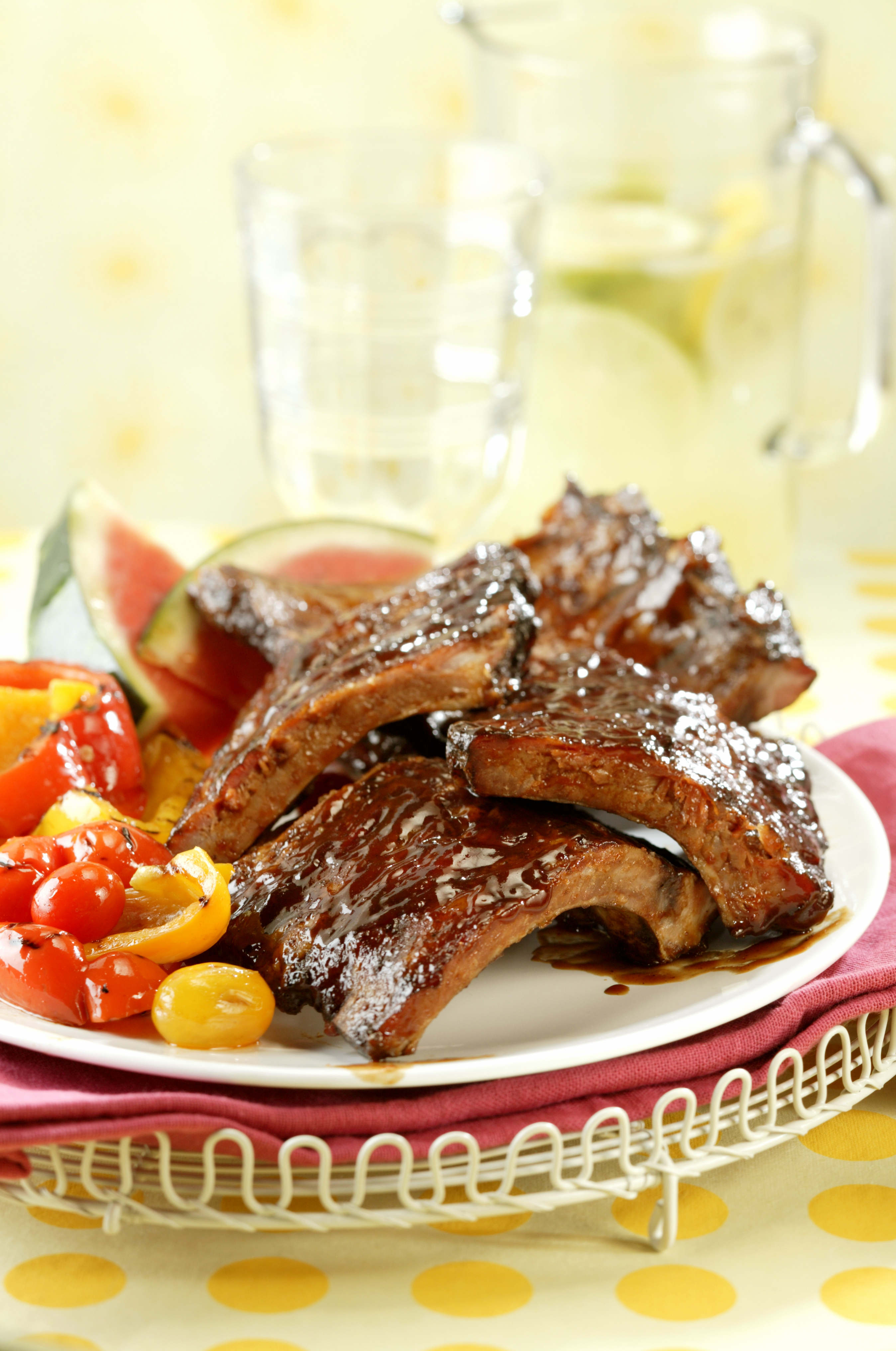 BBQ Baby Back Ribs with Spicy Girls' Dry Rub and Mop Sauce - Pork ...
