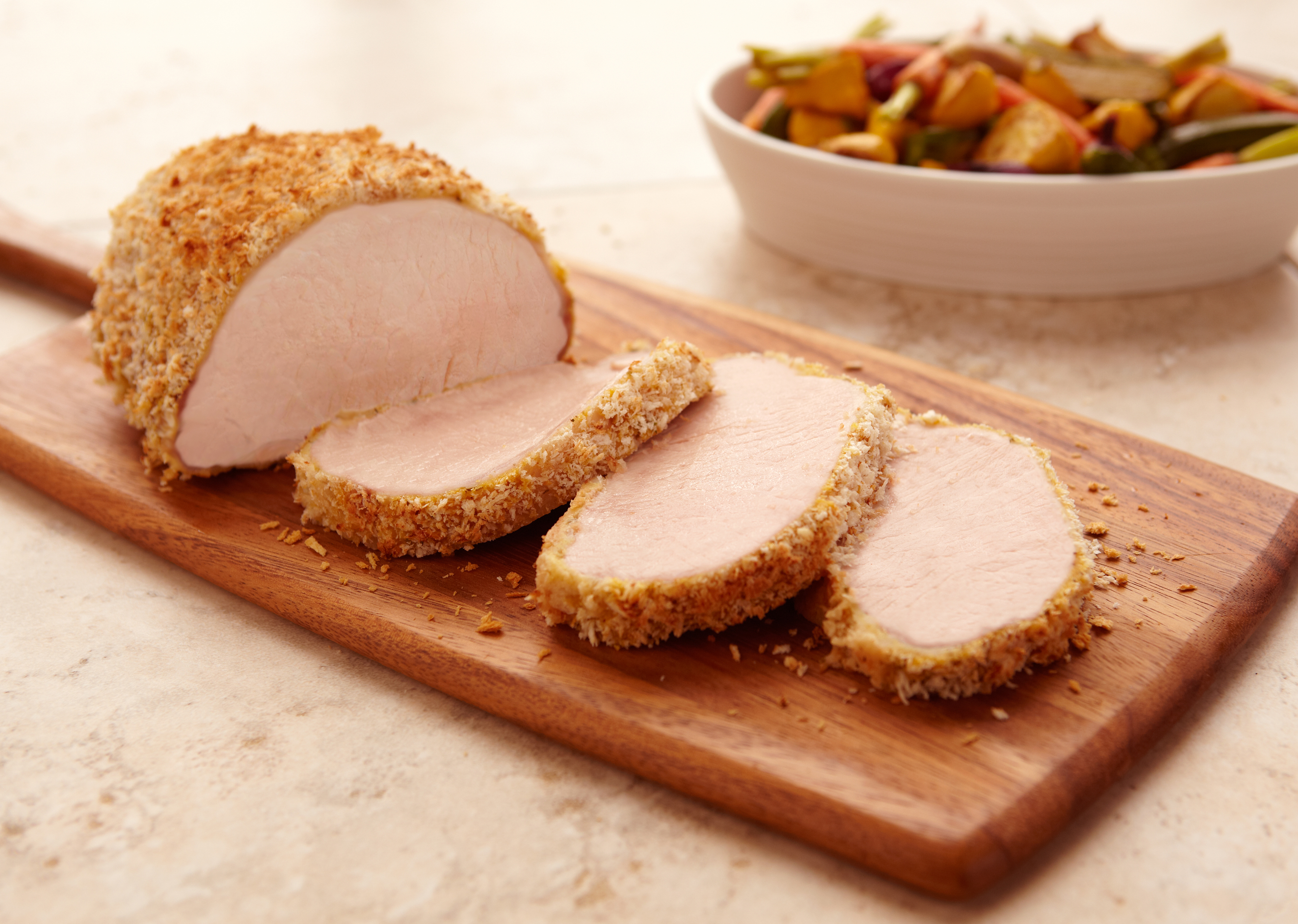 Mustard-Herb Crusted Pork Loin Roast - Pork Recipes - Pork Be Inspired