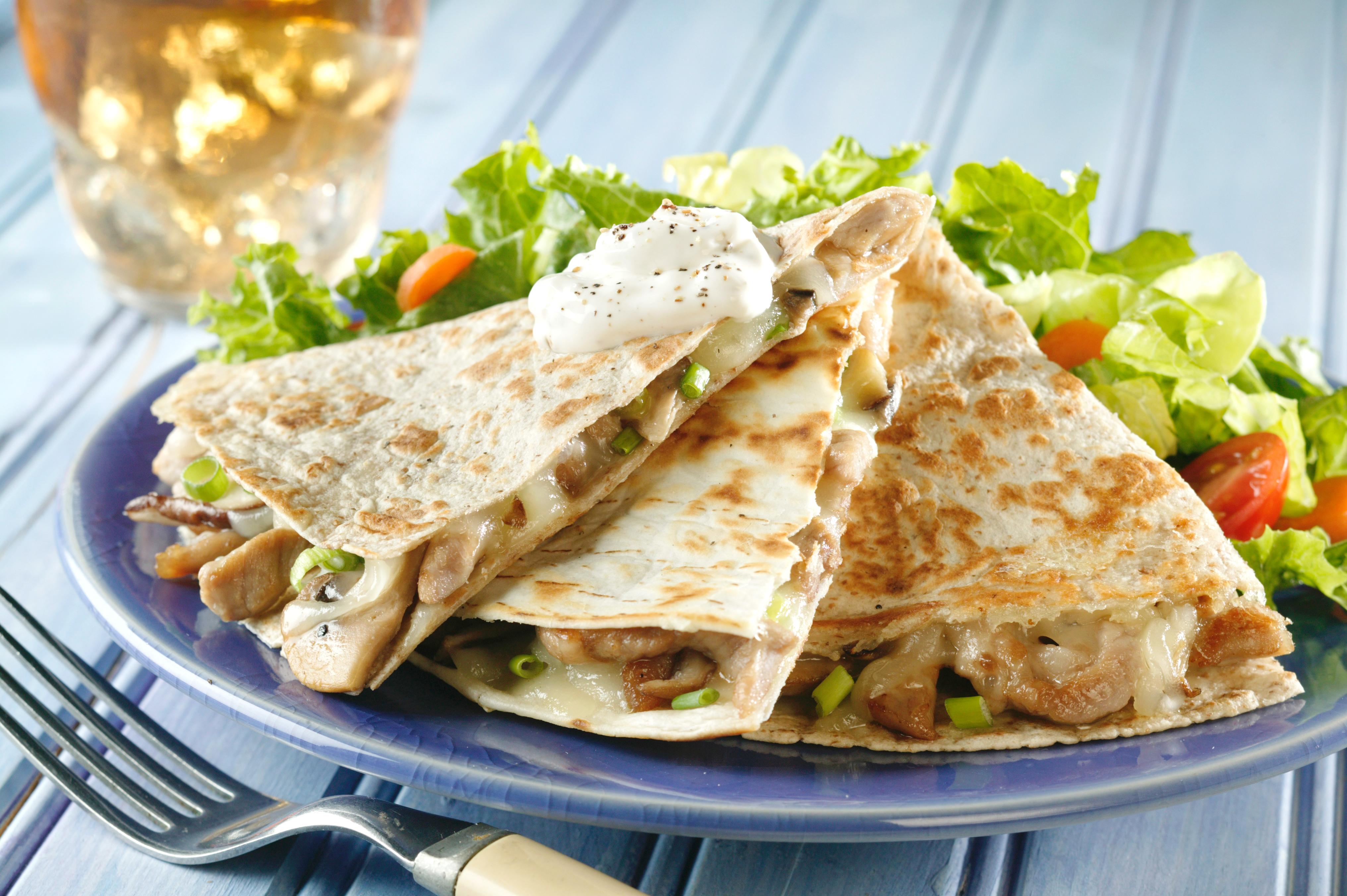 Pork And Mushroom Quesadillas - Pork Recipes - Pork Be Inspired
