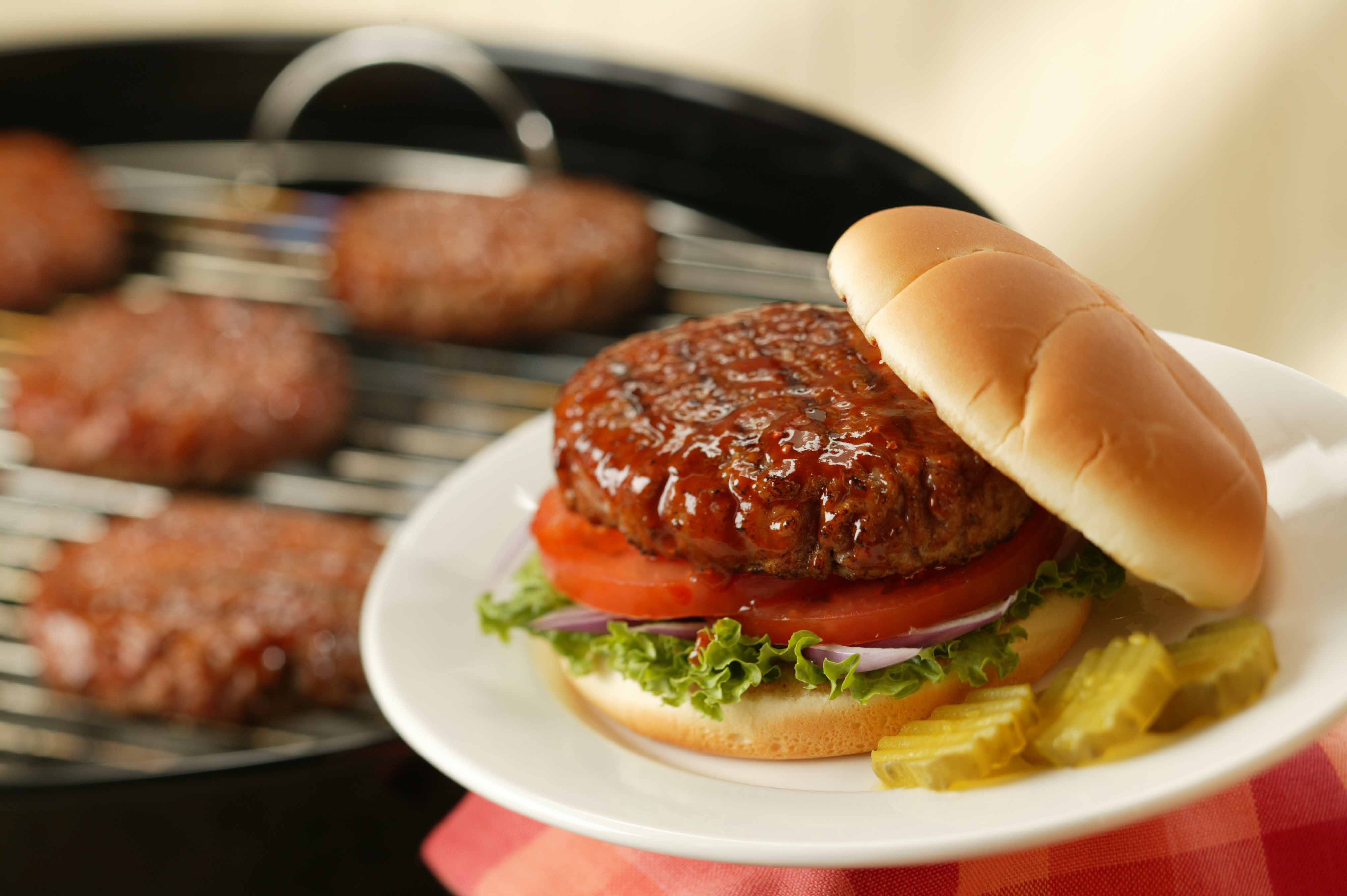 Pork Burgers on Sandwich Buns - Pork Recipes - Pork Be Inspired
