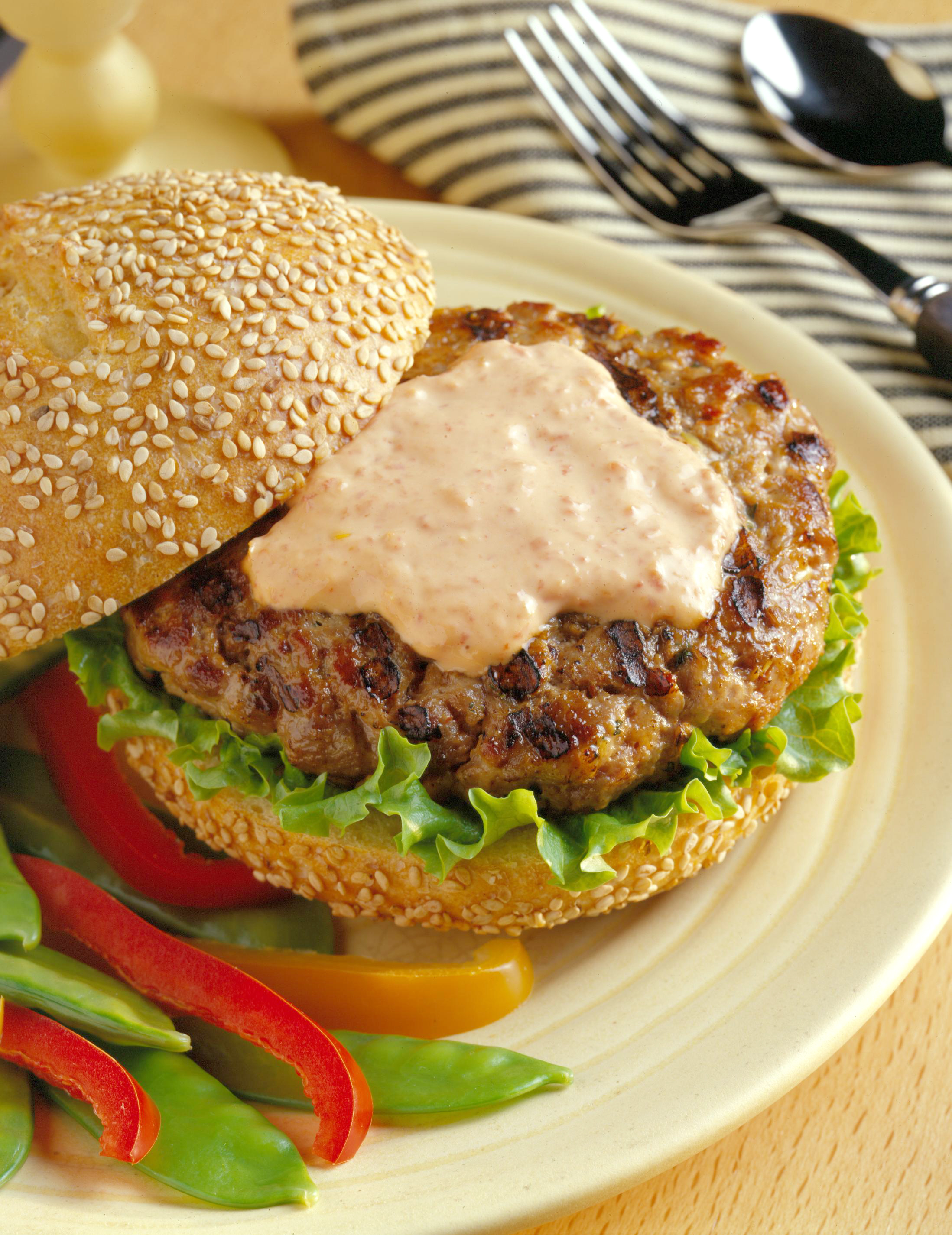 Spicy Asian Ground Pork Burgers - Pork Recipes - Pork Be Inspired