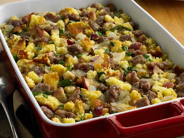Corn Bread, Sausage and Apple Stuffing