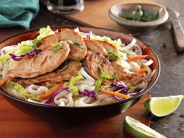 Simple Vietnamese Pork Noodle Bowl - Pork Recipes - Pork Be Inspired