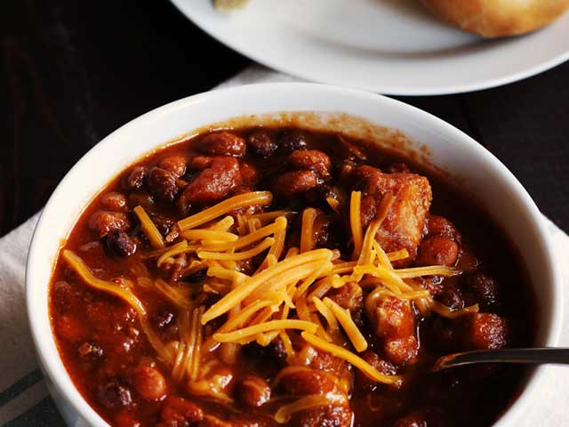 Spicy Pork Chili with Pumpkin