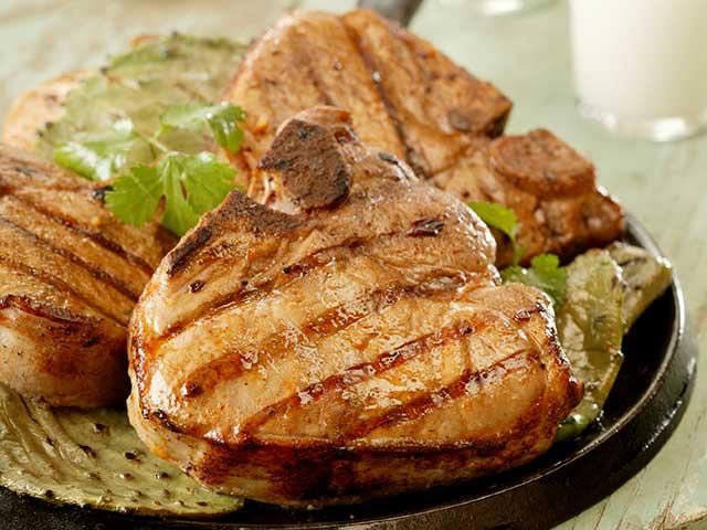 Garlic Lime Marinated Pork Chops Recipe — Dishmaps