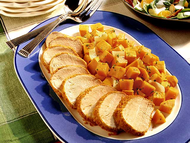 Pork Tenderloin with Roasted Sweet Potatoes - Pork Recipes - Pork Be ...