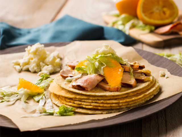 Soft Pork Tacos with Orange Adobo - Pork Recipes - Pork Be Inspired