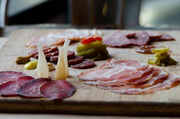 Housemade Charcuterie: Pepperoni, Finnochiona, Duck Ham, Bresaola, and Lomo