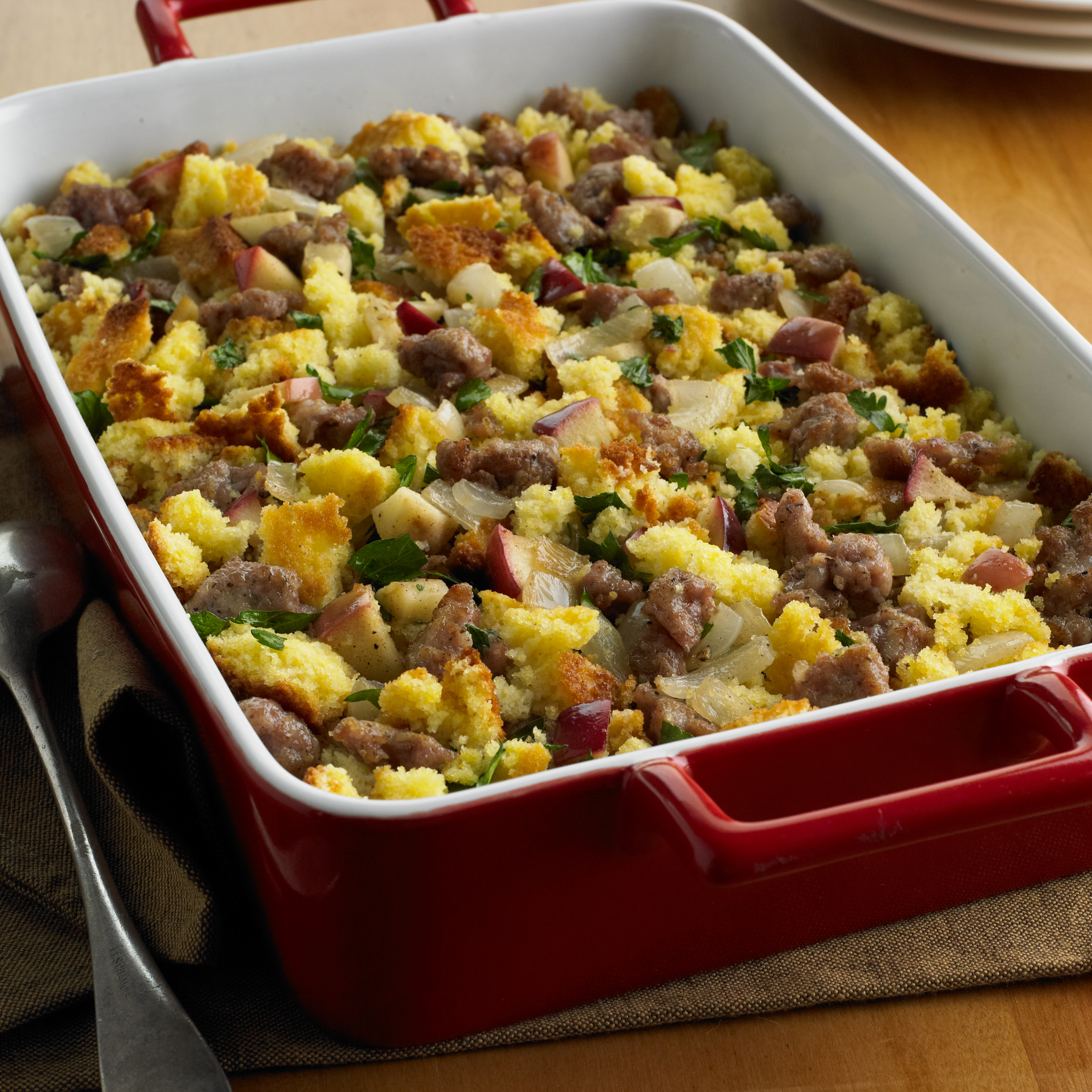 Corn Bread, Sausage and Apple Stuffing - Pork Recipes - Pork Be ...
