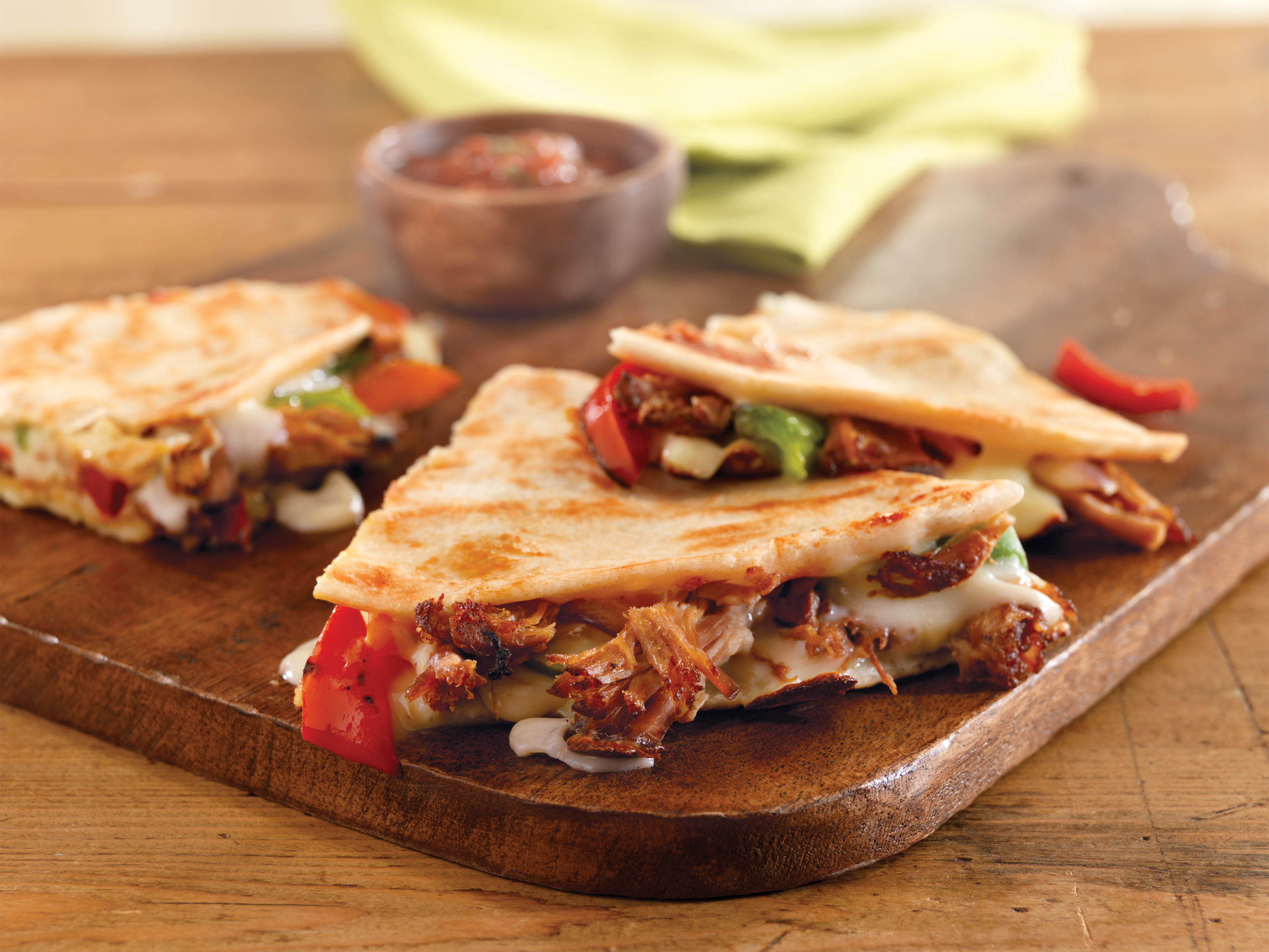 Pulled Pork Quesadillas - Pork Recipes - Pork Be Inspired