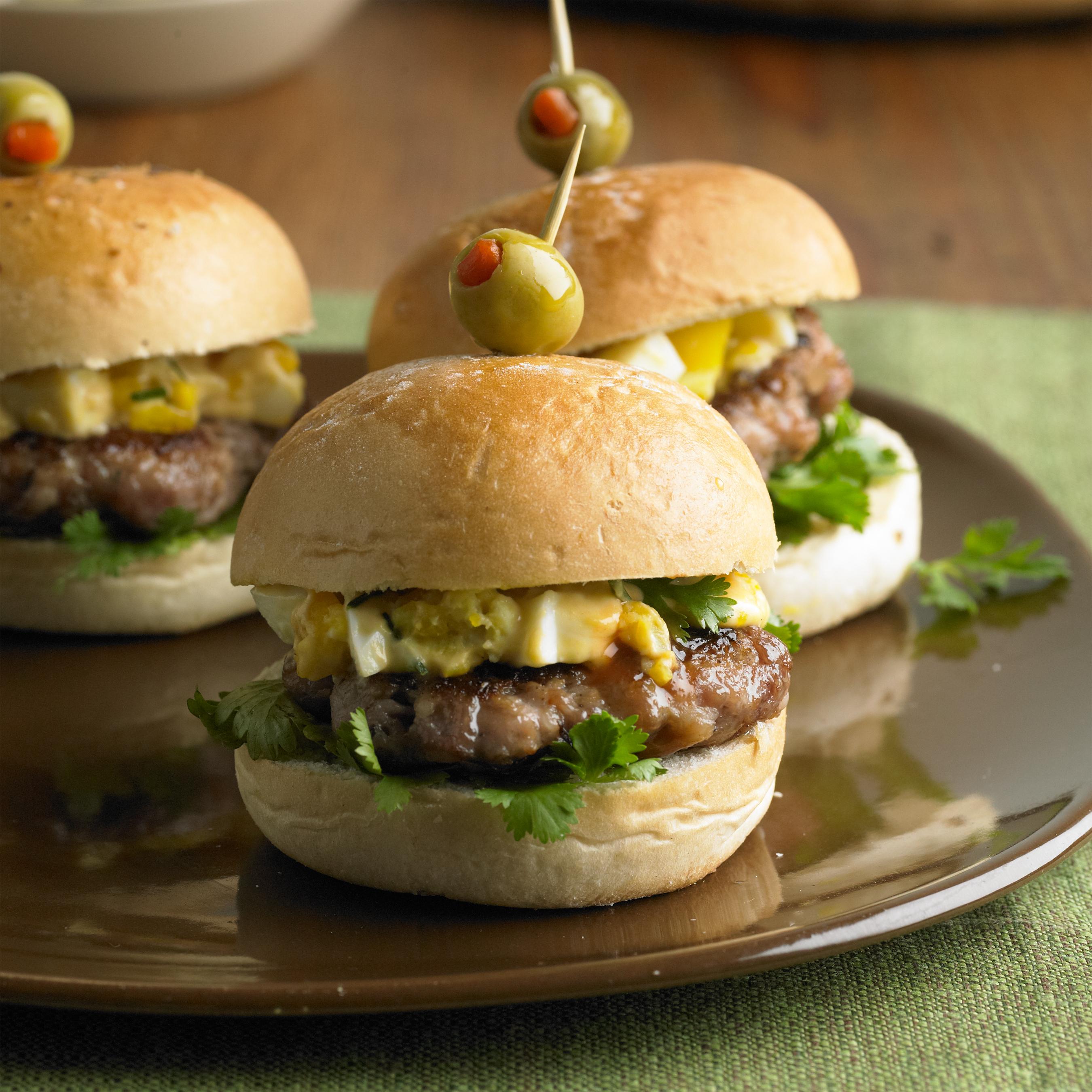 Sausage and Deviled Egg Salad Sliders - Pork Recipes - Pork Be ...