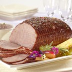 Baked Ham with Sweet 'n' Sour Plum Sauce