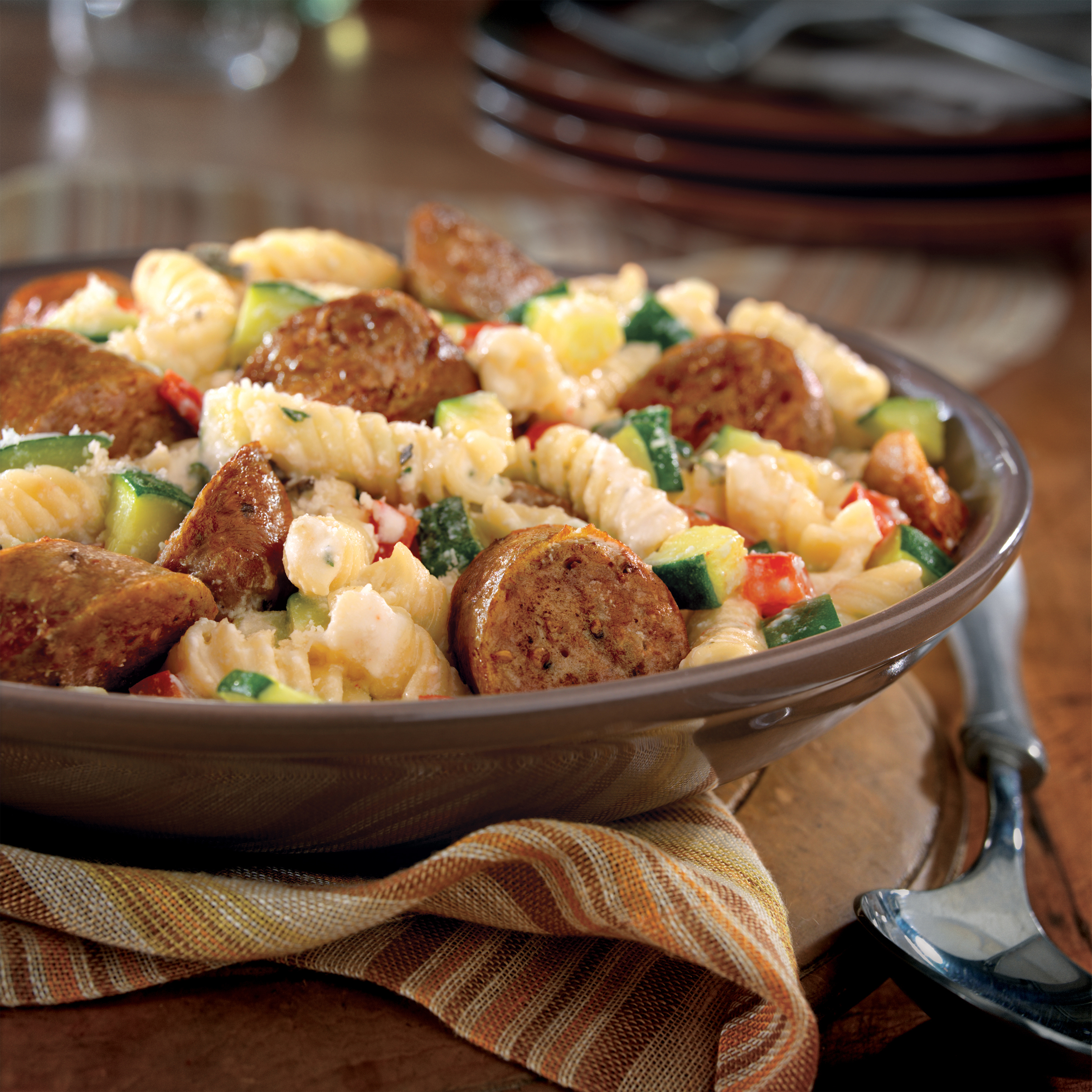 Italian Sausage with Pasta and Herbs - Pork Recipes - Pork Be Inspired