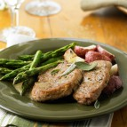 Sage Pork Tenderloin Medallions with White Wine Jus