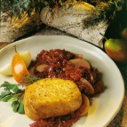 Braised Pork Chops with Red Cabbage and Pears