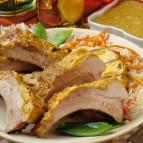 Latin Pork Back Ribs with Smoky Pineapple-Mango Sauce