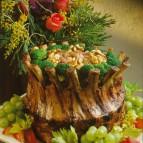 Crown Roast of Pork with Walnut-Rhubarb Stuffing