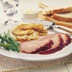 Molasses Black Pepper Glazed Ham