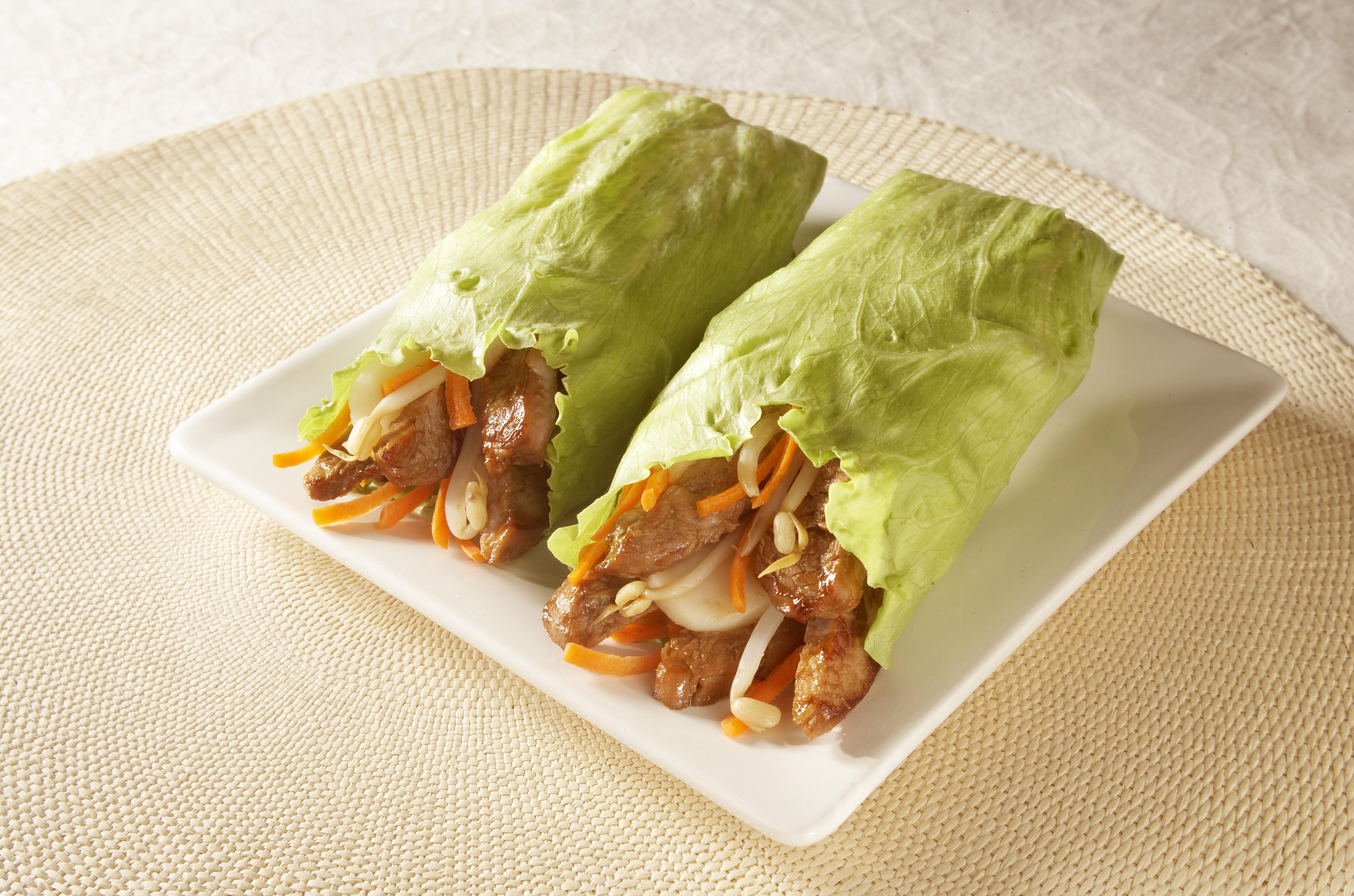 Teriyaki Pork Lettuce Wraps - Pork Recipes - Pork Be Inspired