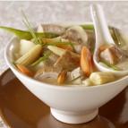 Gingered Pork-Vegetable Soup with Wonton Noodles