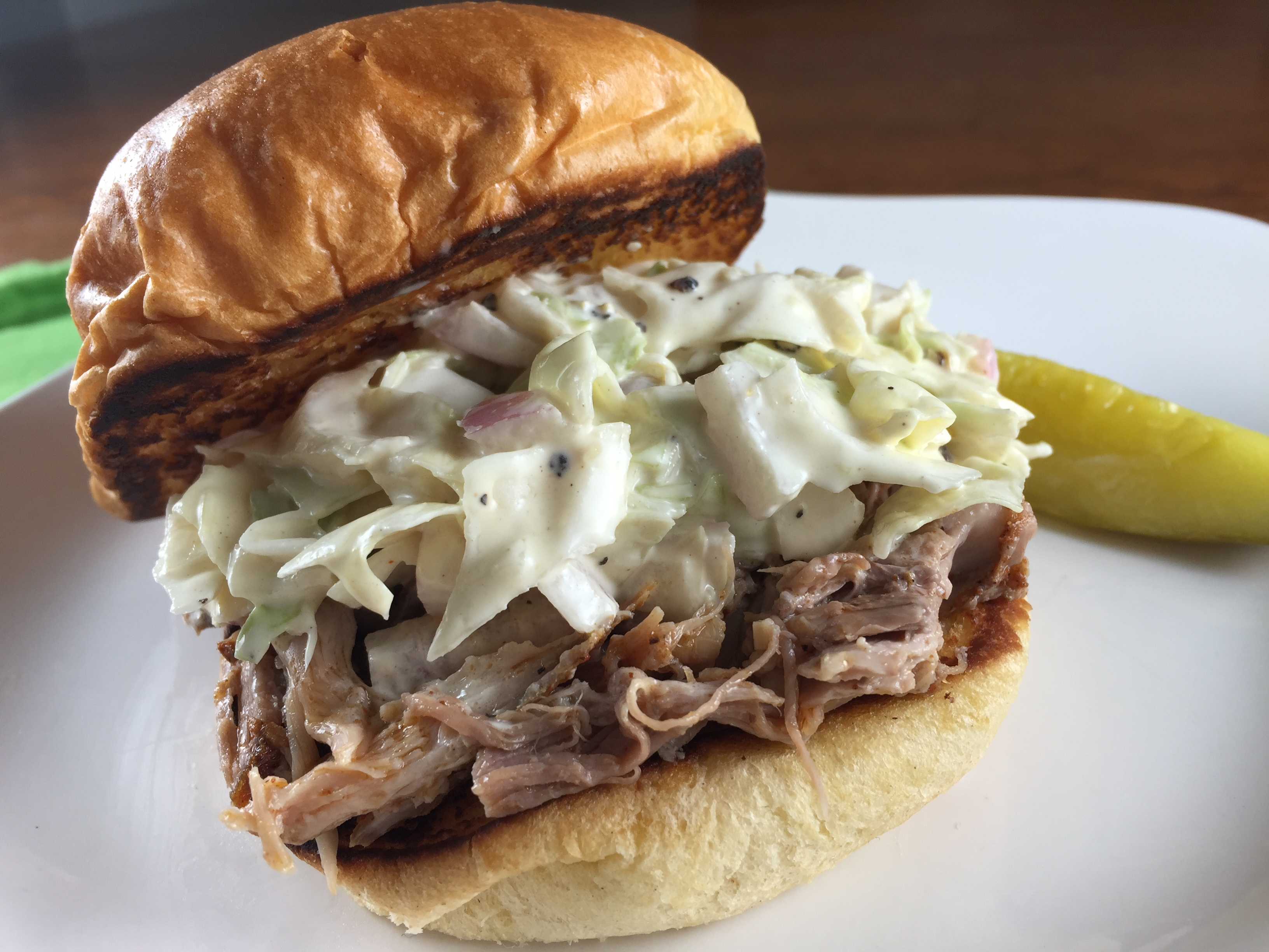 Pulled Pork Sandwich with Coleslaw - Pork Be Inspired