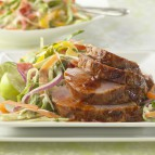 Smoke And Fire Pork Tenderloin with Sweet Onion Slaw