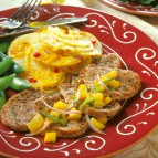 Teriyaki Pork Medallions with Papaya Salsa