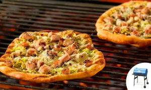 Grilled Pork Pizza