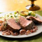Thyme-Roasted Pork Tenderloin with Balsamic Shallot Compote