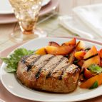 Tangy Maple-Marinated Pork Chops with Stone Fruit Salsa