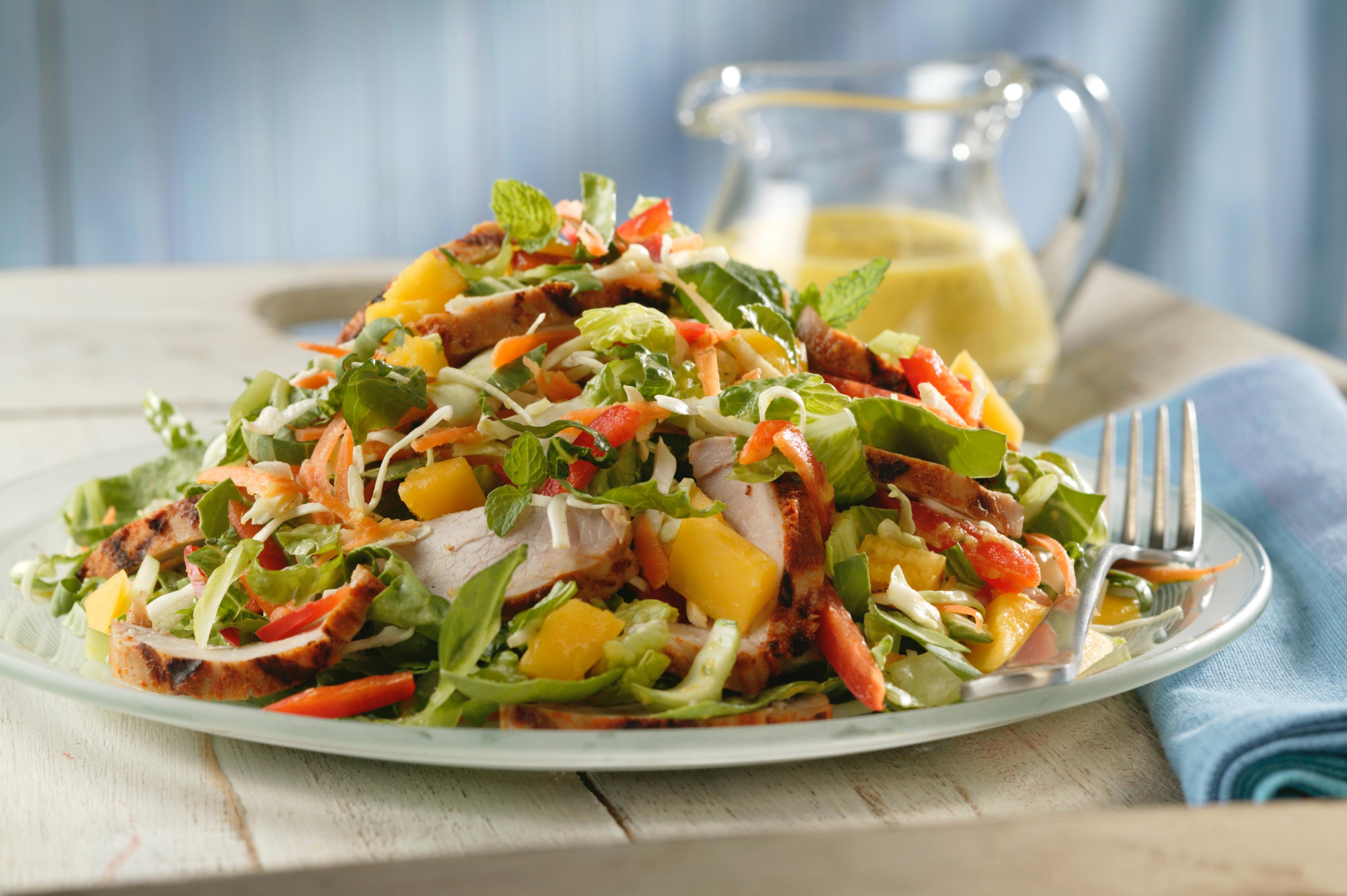 Thai Pork and Mango Salad with Mango-Mint Dressing - Pork Recipes ...