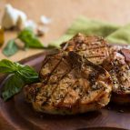 Basil-Garlic Porterhouse Pork Chops