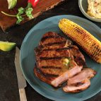 Grilled Porterhouse (Bone-In Loin) Chops with Chipotle Cilantro Butter