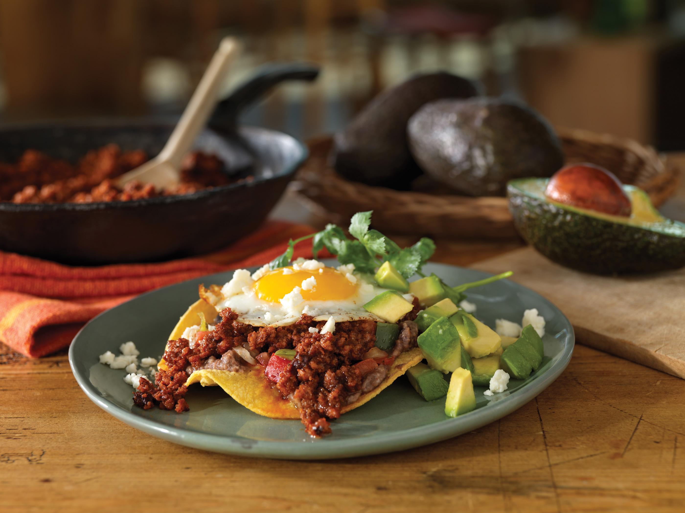 Huevos Rancheros Con Chorizo Mexican Chorizo...