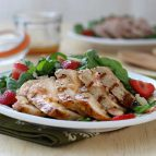 Pork Chop Salad with Strawberries and Almonds