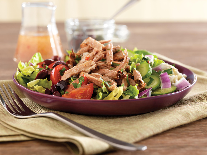 Pulled Pork Greek Salad Pork Recipes Pork Be Inspired