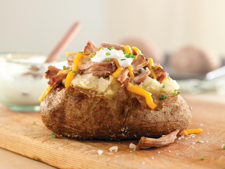pulled pork baked potato pork recipes pork be inspired