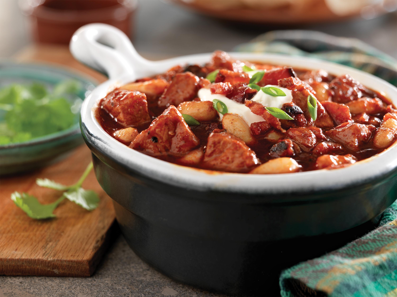 Smoky Pork, Bacon, and White Bean Chili - Pork Recipes ...