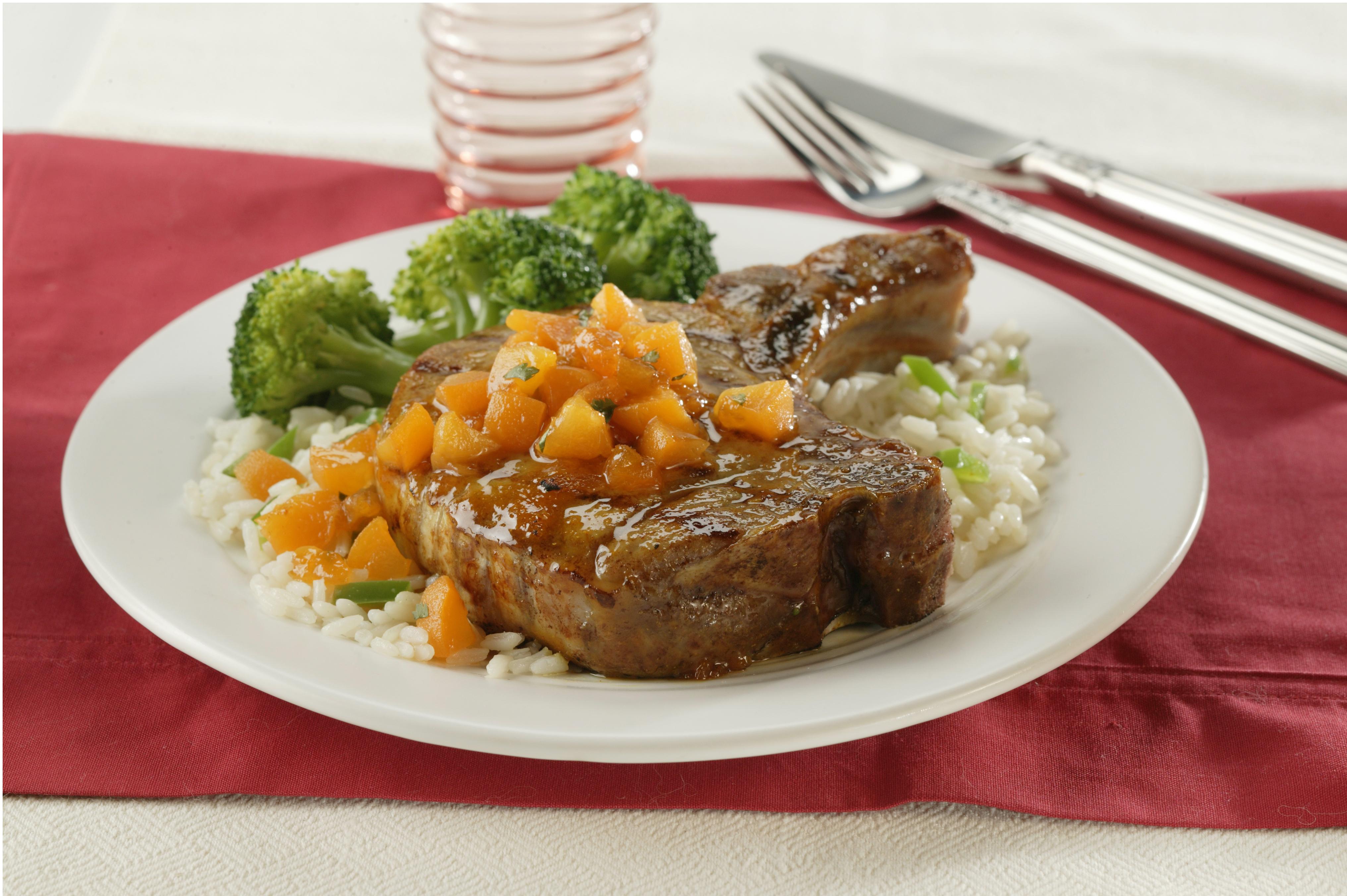 Apricot-Glazed Pork Loin Chops - Pork Recipes - Pork Be ...