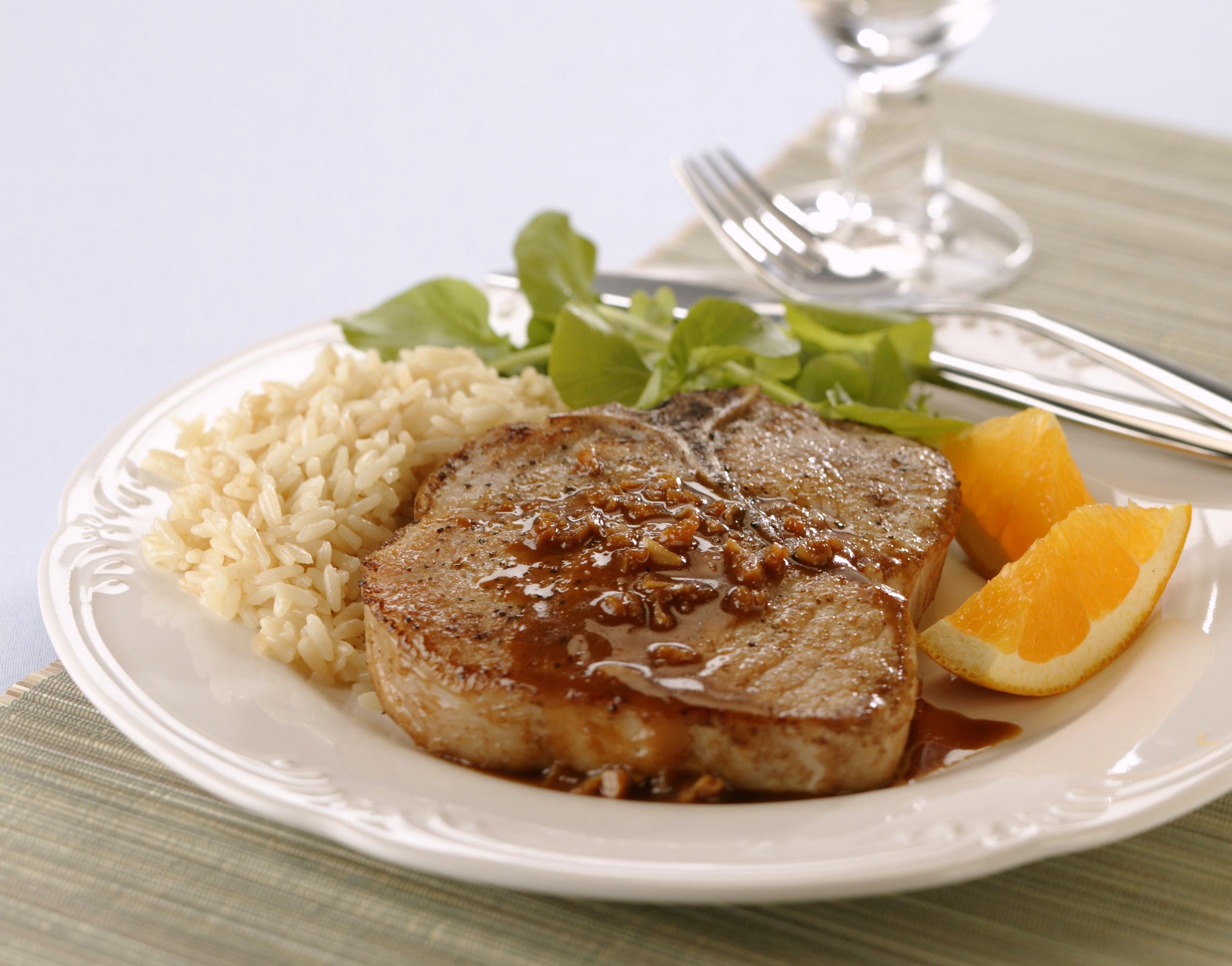 Braised Pork Chops with Orange-Mustard Sauce - Pork Recipes - Pork Be ...