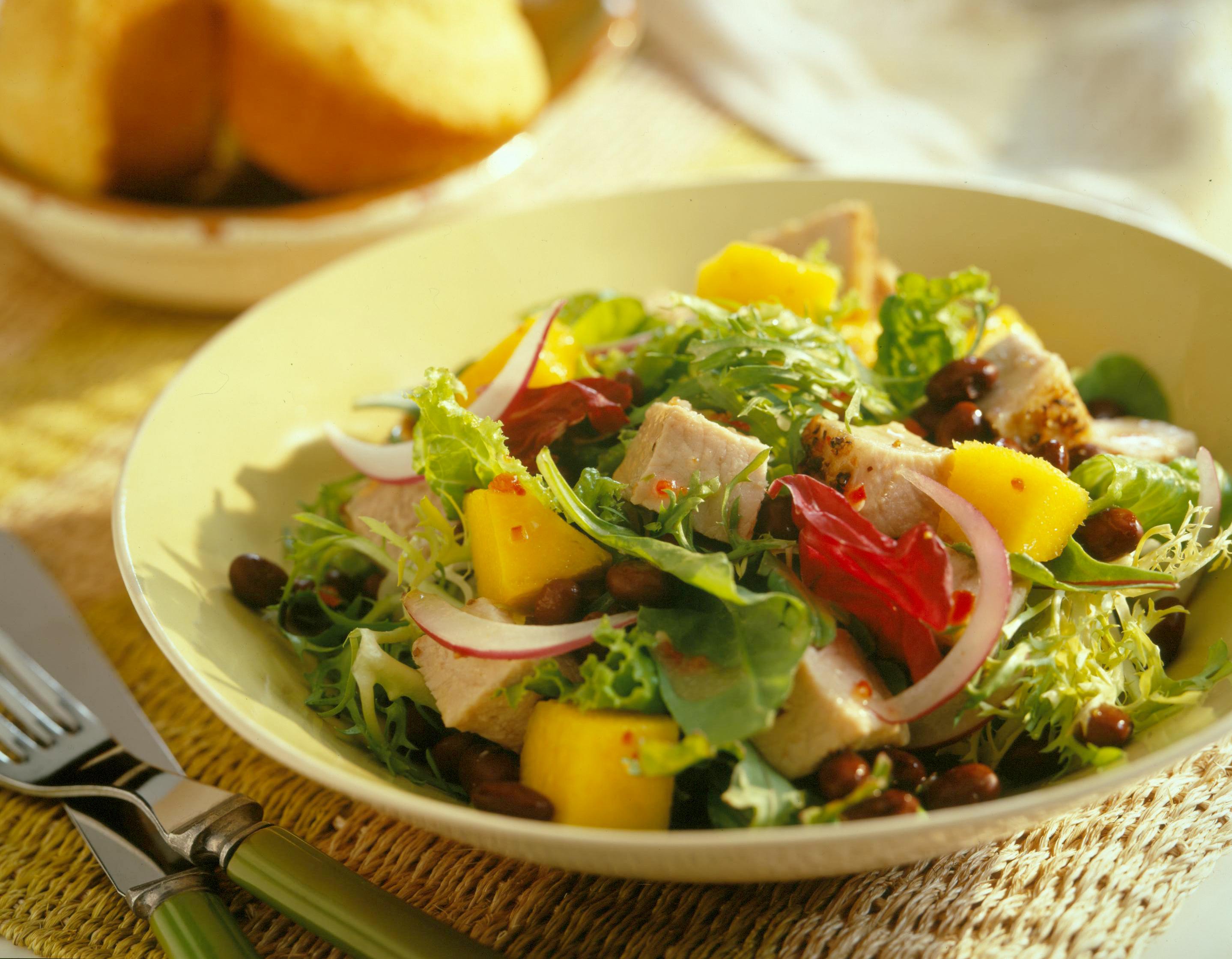 Caribbean Pork and Mango Salad - Pork Recipes - Pork Be Inspired