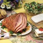 Glazed Ham with Pecan Crust