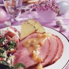 Glazed Ham with Pineapple-Raisin Sauce