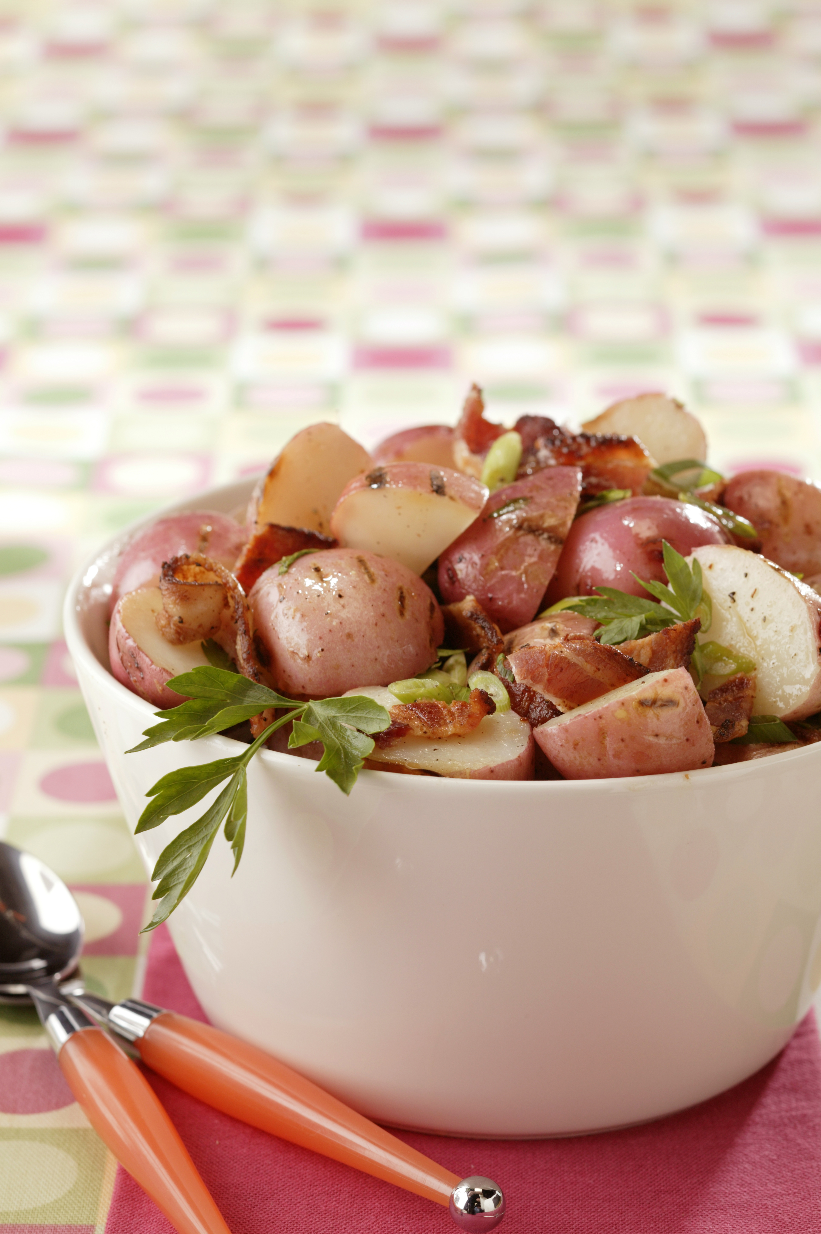 Grilled New Potato Salad with Bacon and Scallions - Pork ...