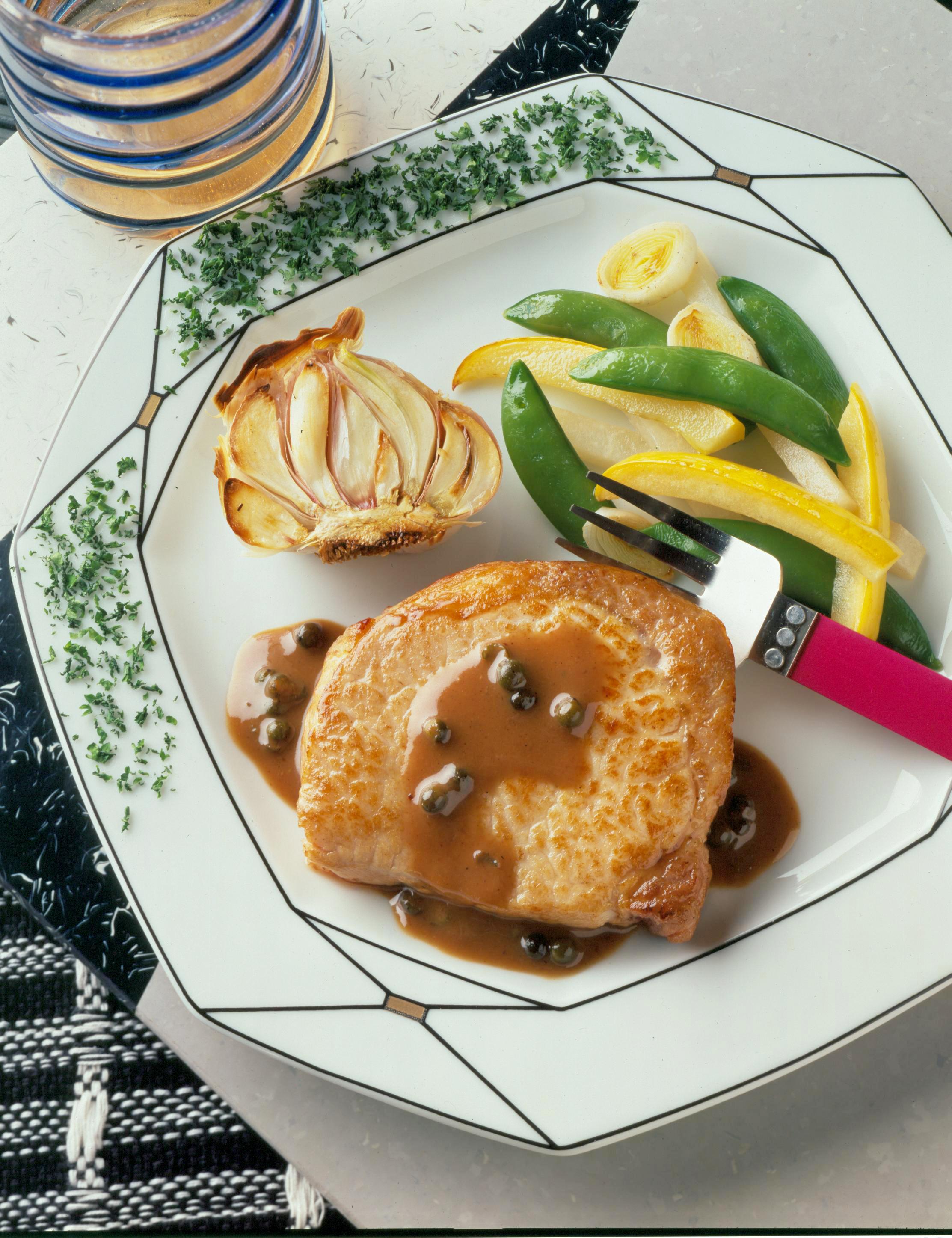 Pork Chops with Mustard-Peppercorn Sauce - Pork Recipes ...