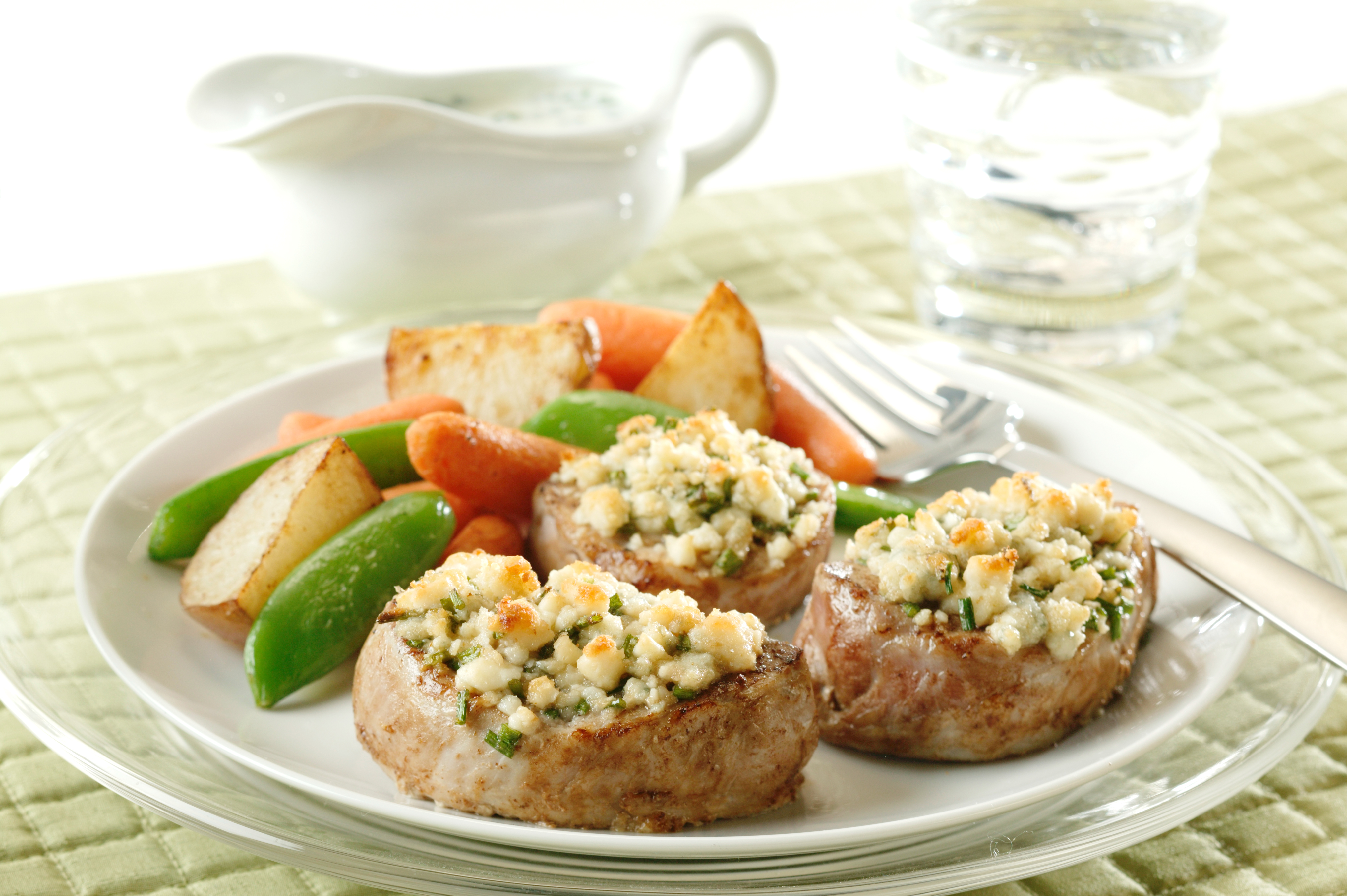 Pork Medallions With Blue Cheese-Chive Stuffing - Pork ...